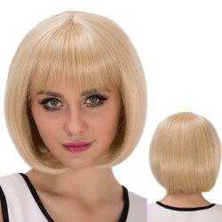 Short Straight Oblique Bang Bob Synthetic Wig