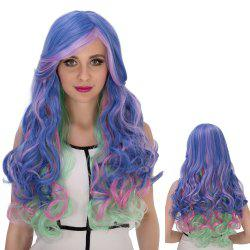 Long Side Bang Wavy Colorful Cosplay Synthetic Wig