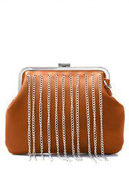 PU Leather Chains Fringe Crossbody Bag