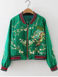 Floral Zip-Up Jacket -