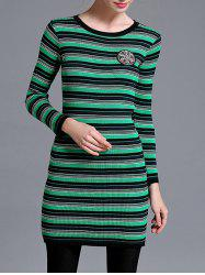 Striped Slimming Longline Knitwear