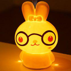 Essential Oil Drive Midge Purify Air Cartoon Ceramic BeiBei Rabbit Night Light - WHITE