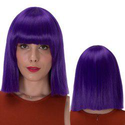 Stunning Short Full Bang Straight Synthetic Wig