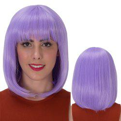 Stunning Medium Full Bang Straight Synthetic Wig