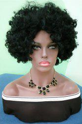 Short Towheaded Afro Curly Synthetic Wig
