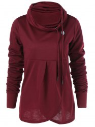 Collier Cowl Sweat-shirt - Rouge Vineux