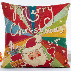 Colorful Santa Claus Hot Sell Decorative Household Pillow Case