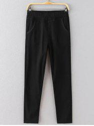 Elastic Waist Plus Size Pencil Pants -