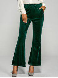 Velvet Boot Cut Bell Bottom Pants