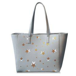 Star Pattern Colour Block Shoulder Bag -