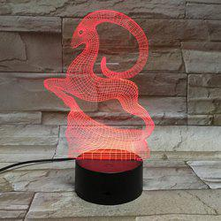 Color Changing 3D Visual Running Goat LED Table Night Light