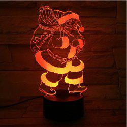 3D Illusion Christmas Santa 7 Color Changing LED Gift Night Light - COLORFUL