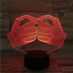 Creative 3D Visual Stereo Gesture Colorful LED Bedroom Night Light