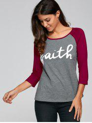 Raglan Sleeve Scoop Neck Funny T-Shirt