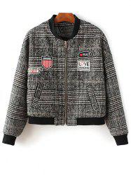 Houndstooth Patch Design Jacket - COLORMIX
