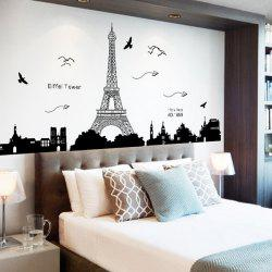 Black Removable Eiffel Tower Wall Stickers Room Decoration - Wall stickers for bedroom
