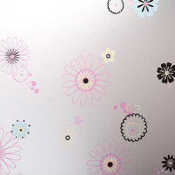 Waterproof Floral Wall Stickers Window Showcase Decoration -