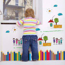 Pencil Removable Kids Room Wall Stickers