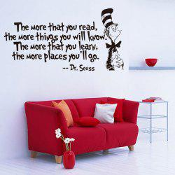The More English Proverb Removable Vinyl Wall Decal Stickers - BLACK