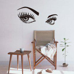 Charming Eyes Pattern Wall Art Stickers Room Decor - BLACK