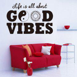 Life Quotes Vinyl Removable Room Decor Wall Stickers -