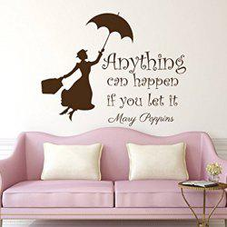 Anything Can Happen Quote Removable Room Wall Stickers -