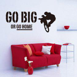 Removable Go Big Or Go Home Proverb Room Office Wall Stickers