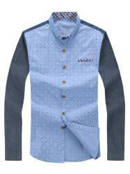 Polka Dot Pattern Long Sleeve Shirt