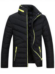 Stand Collar Thicken Zip-Up Down Jacket