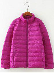 Long Sleeve Padded Jacket - PURPLE