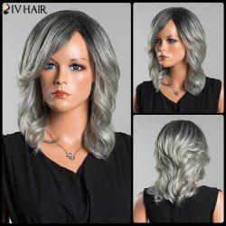 Siv Long Side Parting Colormix Wavy Human Hair Wig