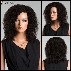 Siv Side Parting Medium Kinky Curly Human Hair Wig