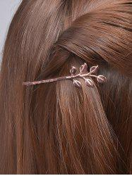 Alloy Leaves Hair Accessory - ROSE GOLD