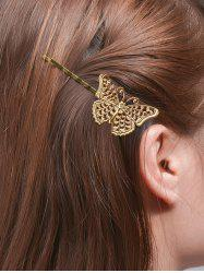 Alloy Butterfly Hair Accessory - GOLDEN