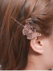 Alloy Butterfly Hair Accessory - ROSE GOLD