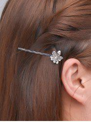 Alloy Floral Hair Accessory - SILVER