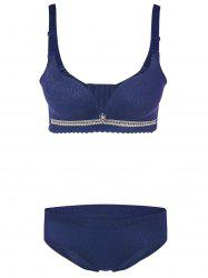 Push-Up Underwired Adjustable Bra Set - BLUE