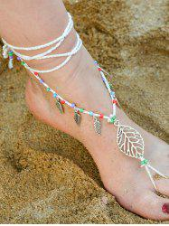 Handmade Leaf Beaded Layered Toe Girl Hippie Anklet -