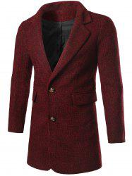 Single Breasted Flap Pocket Tweed Coat