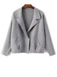 Lapel Neck Blazer Cardigan -