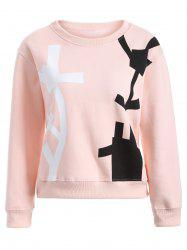 Drop Shoulder Abstract Pattern Sweatshirt -