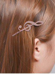 Alloy Music Note Hair Accessory - ROSE GOLD