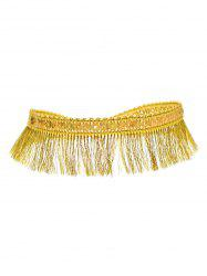 Sequins Tassel Choker Necklace - GOLDEN