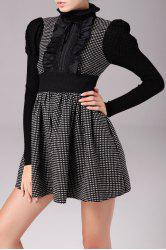 Lace Ruffle Polka Dot Min Dress -