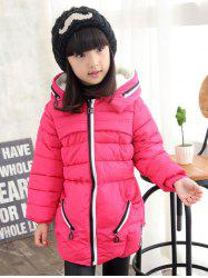 Girls Hooded Long Coat -