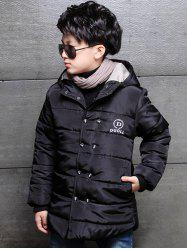 Buttoned Hooded Puffer Coat -