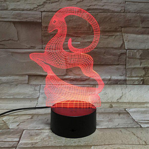 Outfits Color Changing 3D Visual Running Goat LED Table Night Light