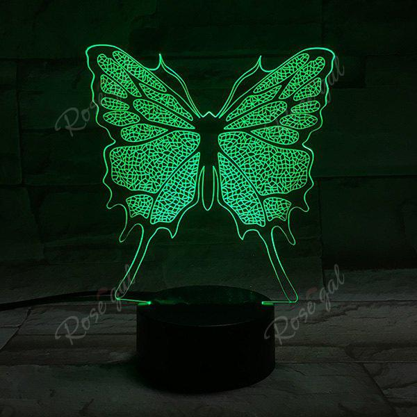 Home Decor 3D Illusion Stereo Color Changing Butterfly LED Night LightHOME<br><br>Color: COLORFUL; Style: Modern/Contemporary; Categories: Light; Material: Other; Weight: 0.333kg; Package Contents: 1 x Night Light (Set);