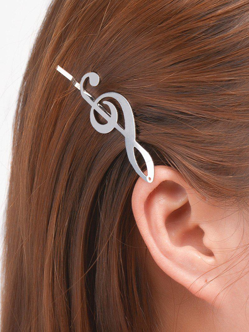 Alloy Music Note Hair AccessoryACCESSORIES<br><br>Color: SILVER; Headwear Type: Hairpins; Group: Adult; Gender: For Women; Style: Vintage; Pattern Type: Others; Weight: 0.0400kg; Package Contents: 1 x Hair Accessory;