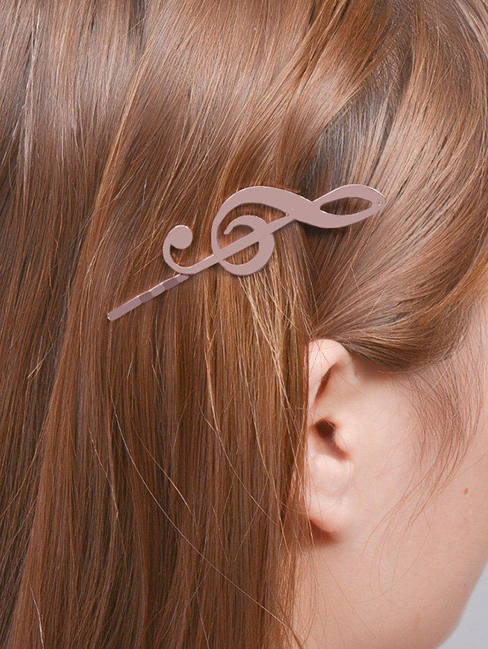 Alloy Music Note Hair AccessoryACCESSORIES<br><br>Color: ROSE GOLD; Headwear Type: Hairpins; Group: Adult; Gender: For Women; Style: Vintage; Pattern Type: Others; Weight: 0.0400kg; Package Contents: 1 x Hair Accessory;